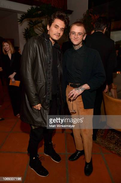 John Mayer and Elijah Funk attend the 2018 GQ Men of the Year Party at a private residence on December 6 2018 in Beverly Hills California