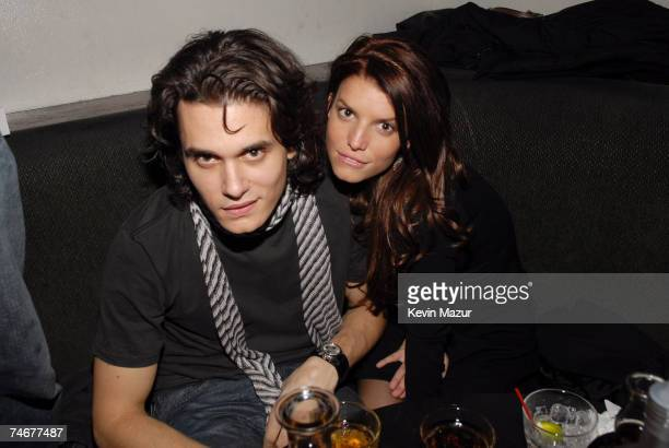 John Mayer and Jessica Simpson at the Stereo in New York City, New York