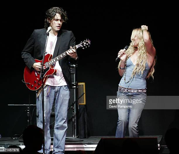 John Mayer and Joss Stone during From the Big Apple to the Big Easy - Radio City Music Hall - Show at Radio City Music Hall in New York City, New...