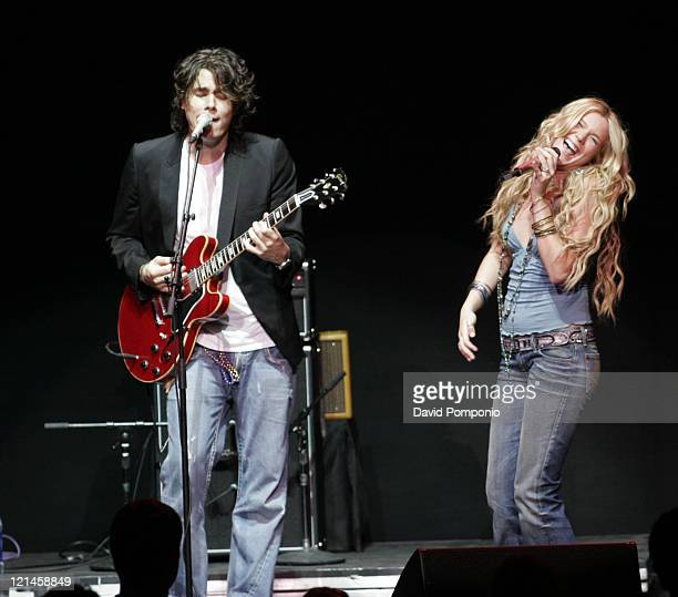 John Mayer and Joss Stone during From the Big Apple to the Big Easy Radio City Music Hall Show at Radio City Music Hall in New York City New York...