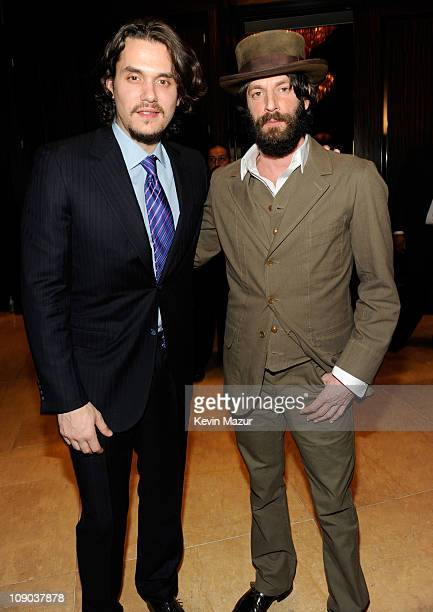 John Mayer and Ray Lamontagne arrives at the 2011 Pre-GRAMMY Gala and Salute To Industry Icons Honoring David Geffen at The Beverly Hilton Hotel on...