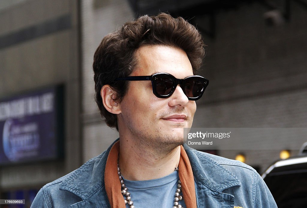 John Mayer arrives for the 'Late Show with David Letterman' at Ed Sullivan Theater on August 19, 2013 in New York City.