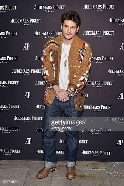 John Mayer attends the Audemars Piguet grand opening of Rodeo Drive Boutique at Audemars Piguet on December 9, 2015 in Beverly Hills, California.
