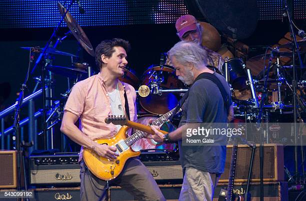 John Mayer Bill Kreutzmann and Bob Weir of Dead Company perform in concert at Citi Field on June 25 2016 in the Queens borough of New York City