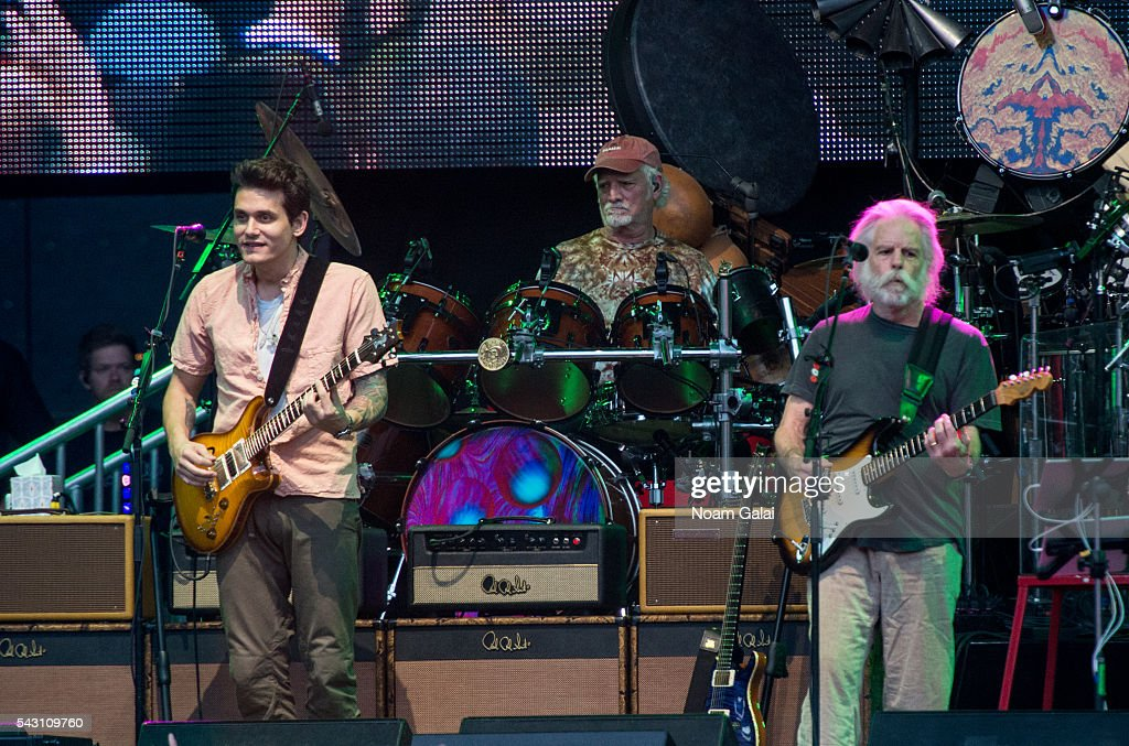 John Mayer, Bill Kreutzmann and Bob Weir of Dead & Company perform in concert at Citi Field on June 25, 2016 in the Queens borough of New York City.