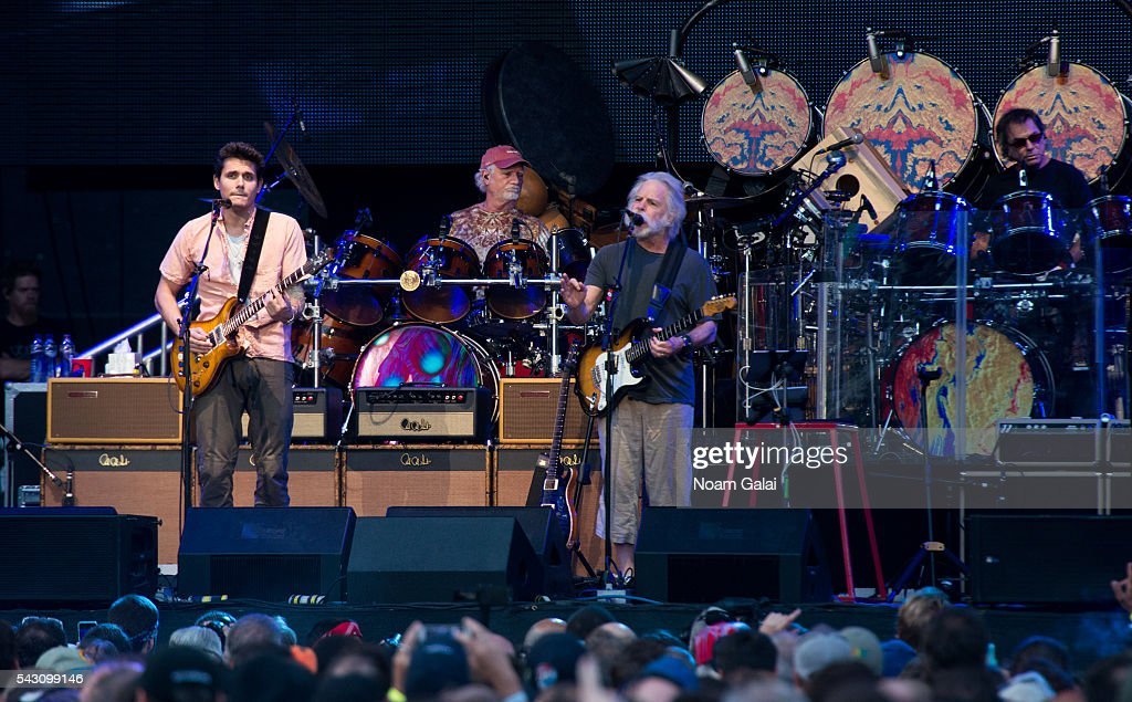 John Mayer, Bill Kreutzmann, Bob Weir and Mickey Hart of Dead & Company perform in concert at Citi Field on June 25, 2016 in the Queens borough of New York City.