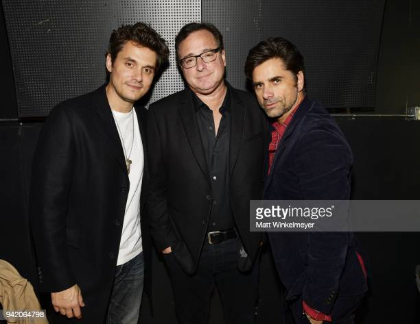 John Mayer Bob Saget and John Stamos attend the 18th Annual International Beverly Hills Film Festival Opening Night Gala Premiere of Benjamin at TCL...