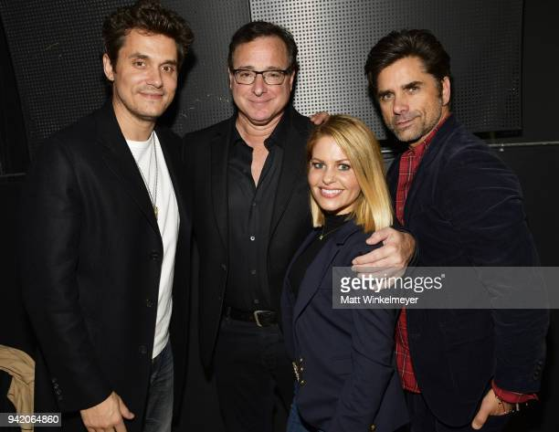John Mayer Bob Saget Candace CameronBure and John Stamos attend the 18th Annual International Beverly Hills Film Festival Opening Night Gala Premiere...