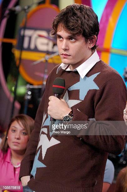 "John Mayer during Ashlee Simpson and John Mayer Visit MTV's ""TRL"" - November 18, 2004 at MTV Studios, Times Square in New York City, New York, United..."