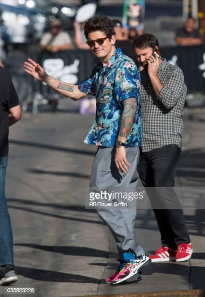 John Mayer is seen at 'Jimmy Kimmel Live' on September 18 2018 in Los Angeles California