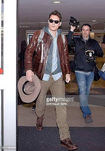 John Mayer is seen at Los Angeles International airport on November 10 2012 in Los Angeles California