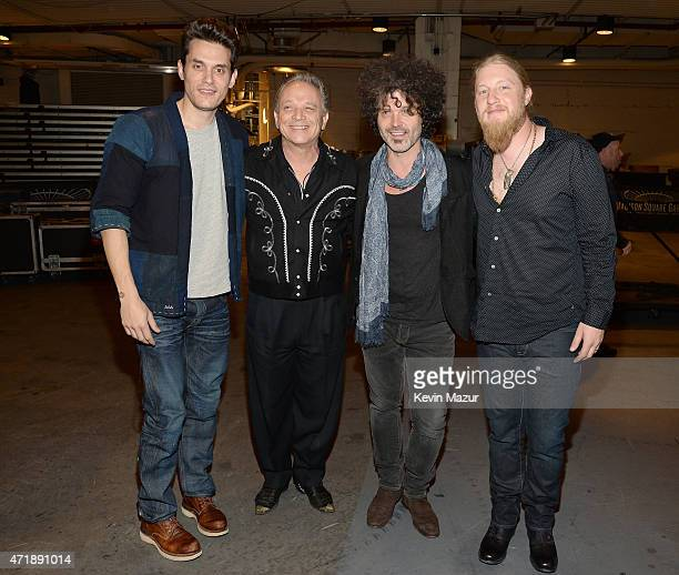 John Mayer Jimmie Vaughan Doyle Bramhall II and Derek Trucks attend the Eric Clapton's 70th Birthday Concert Celebration at Madison Square Garden on...
