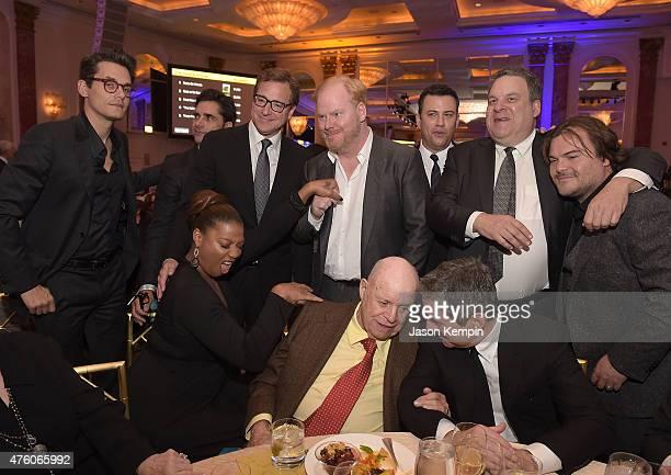 John Mayer John Stamos Queen Latifah Bob Saget Jim Gaffigan Don Rickles Jimmy Kimmel Jeff Garlin and Jack Black attend the Cool Comedy Hot Cuisine To...