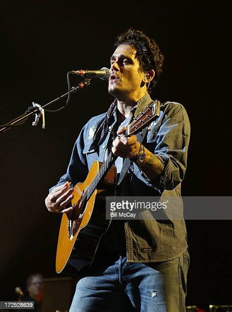 John Mayer performs a private show in Philadelphia Pennsylvania July 2 2013 at the Liacouras Center exclusively for SiriusXM listeners John Mayer's...