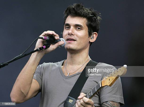 John Mayer performs at Hard Rock Calling at Hyde Park on June 28 2008 in London England