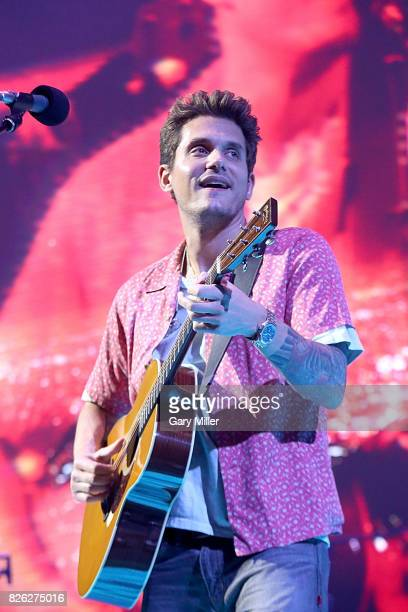John Mayer performs in concert during his Search For Everything world tour at the ATT Center on August 3 2017 in San Antonio Texas