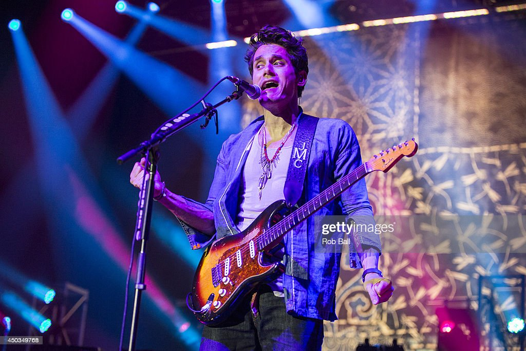 John Mayer performs on stage at O2 Arena on June 9, 2014 in London, United Kingdom.