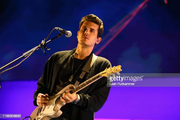 John Mayer performs onstage at Bridgestone Arena on August 08 2019 in Nashville Tennessee