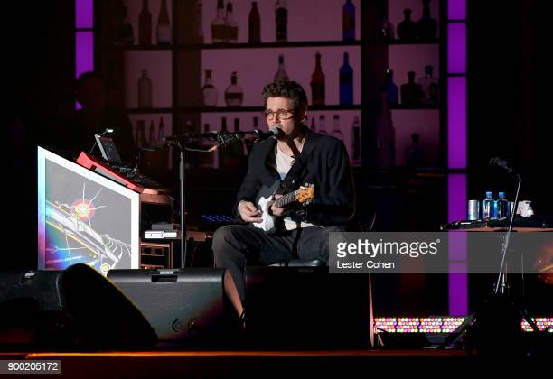 John Mayer performs onstage during Dave Chappelle and John Mayer Controlled Danger at The Forum on December 31 2017 in Inglewood California