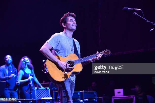 John Mayer performs onstage during his The Search For Everything tour at Northwell Health at Jones Beach Theater on August 23 2017 in Wantagh New York