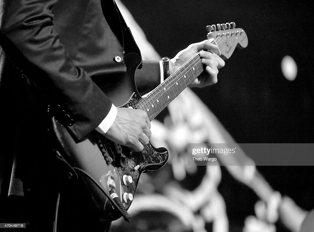 John Mayer performs onstage during the 30th Annual Rock And Roll Hall Of Fame Induction Ceremony at Public Hall on April 18, 2015 in Cleveland, Ohio.