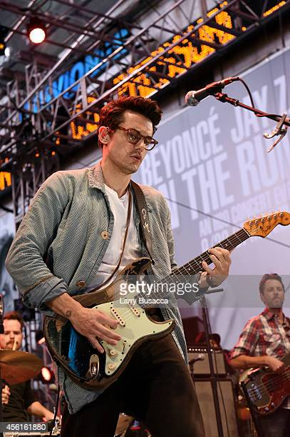John Mayer performs onstage during the Rock In Rio USA event in Times Square on September 26 2014 in New York City