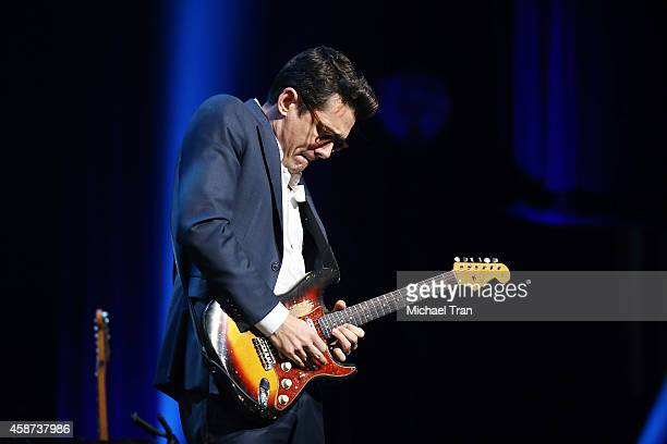 John Mayer performs onstage during The Thelonius Monk Jazz Trumpet Competition and All Star Gala concert held at Dolby Theatre on November 9 2014 in...