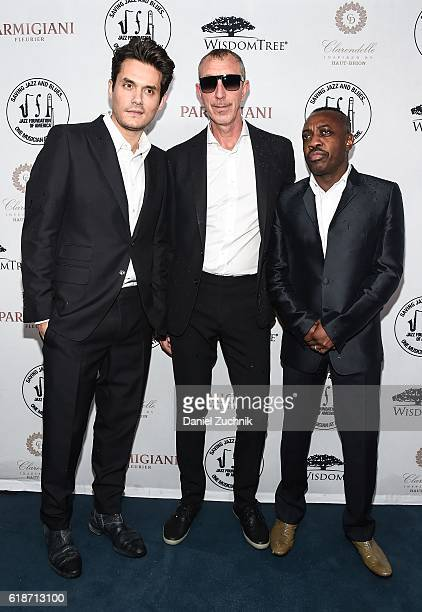 John Mayer Pino Palladino and Steve Jordan of the John Mayer Trio attend the 15th Annual 'A Great Night in Harlem' Gala at The Apollo Theater on...