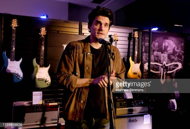John Mayer speaks at the Paul Reed Smith booth at the 2019 NAMM Show at the Anaheim Convention Center on January 25 2019 in Anaheim California