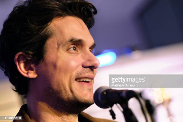 John Mayer speaks at the Paul Reed Smith booth at the 2019 NAMM Show at the Anaheim Convention Center on January 25, 2019 in Anaheim, California.