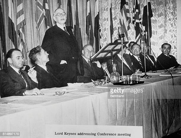 John Maynard Keynes addresses Conference meeting.