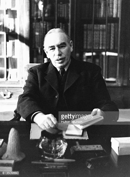 John Maynard Keynes, British economist and pioneer of the full employment theory.