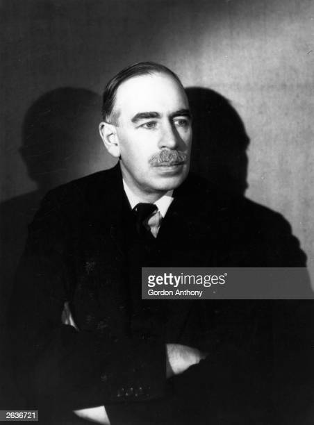 John Maynard Keynes the British economist and member of the Bloomsbury set. He pioneered the theory of full employment. Original Publication: People...
