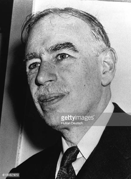 John Maynard Keynes the British economist. He was a member of the Bloomsbury group and pioneered the theory of full employment.