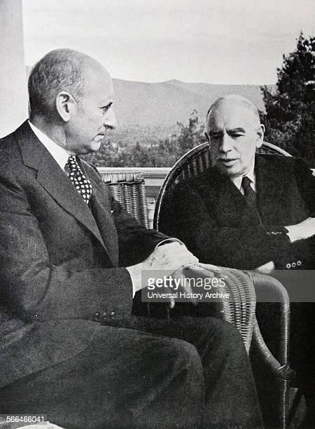 John Maynard Keynes with Henry Morgenthau at Bretton Woods Conference 1944 John Maynard Keynes 1st Baron Keynes 1883 – 1946 British economist whose...