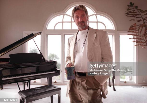 John McAfee is photographed in his Laselva Beach home on January 24, 2001. McAfee Associates, founded by John, had extremely colorful beginnings -...