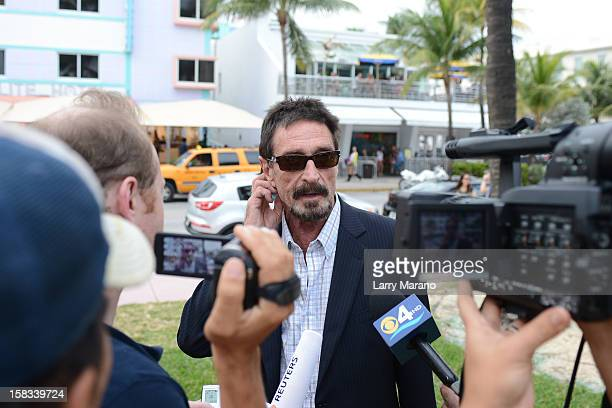 John McAfee is sighted in South Beach on December 13 2012 in Miami Beach Florida