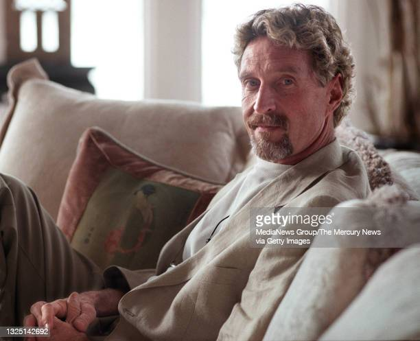 John McAfee sits in his Laselva Beach home on January 24, 2001. McAfee Associates, founded by John, had extremely colorful beginnings - originating...