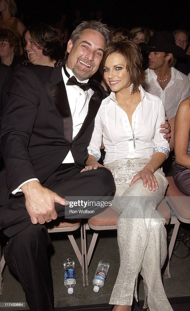 John McBride and Martina McBride during 39th Annual Academy of Country Music Awards - Backstage and Audience at Mandalay Bay Resort and Casino in Las Vegas, Nevada, United States.