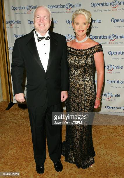 John McCain and guest during Operation Smile 4th Annual Los Angeles Gala at Regent Beverly Wilshire Hotel in Los Angeles, California, United States.