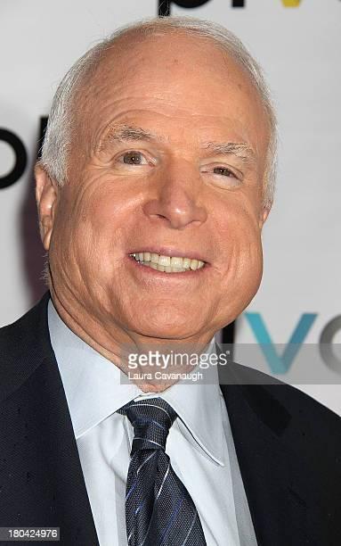John McCain attends 'Raising McCain' Series New York Premiere at Tribeca Cinemas on September 12 2013 in New York City