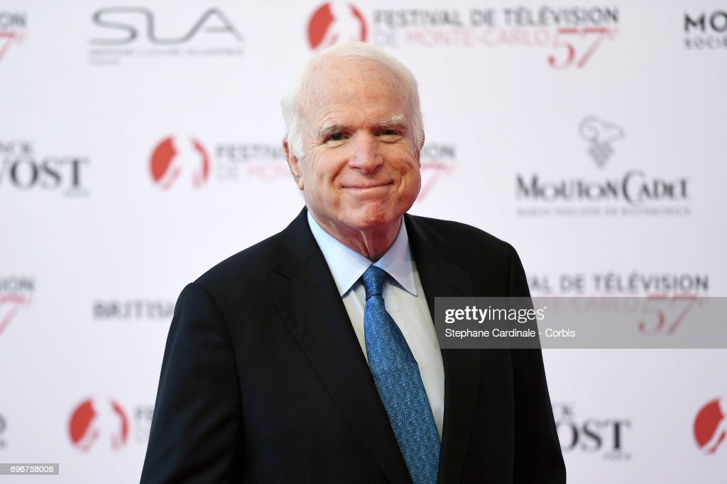 John McCain attends the 57th Monte Carlo TV Festival Opening Ceremony on June 16, 2017 in Monte-Carlo, Monaco.