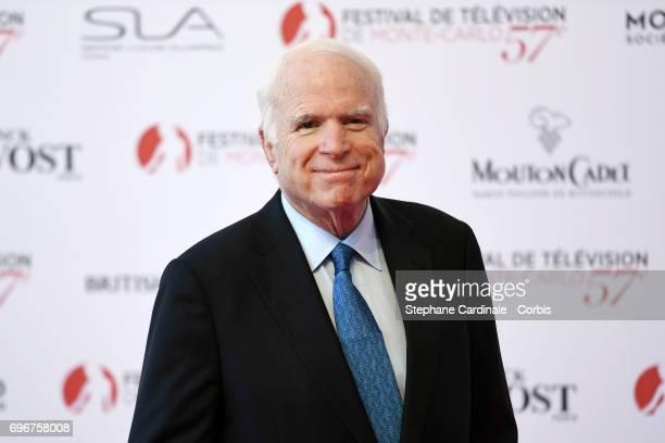 John McCain attends the 57th Monte Carlo TV Festival Opening Ceremony on June 16 2017 in MonteCarlo Monaco