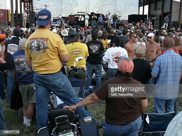NBC NEWS John McCain Campaign Pictured Senator John McCain Cindy McCain and daughter Meghan McCain at the Sturgis motorcycle rally in Sturgis SD on...