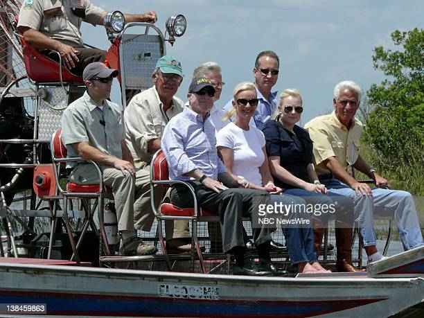 NBC NEWS John McCain Campaign Pictured Senator John McCain tours the Florida Everglades with Governor Charlie Crist Cindy McCain and daughter Meghan...