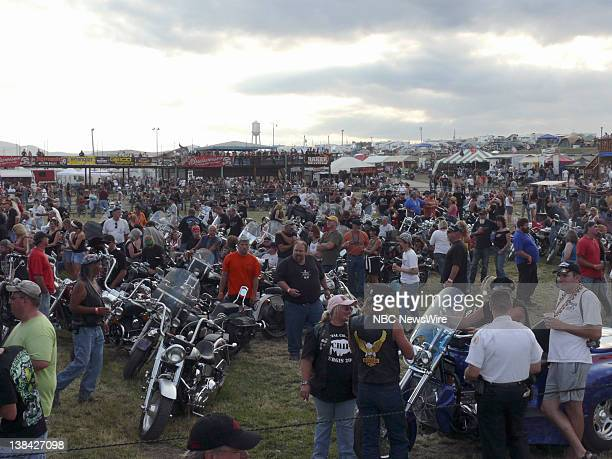 NBC NEWS John McCain Campaign Pictured Sturgis motorcycle rally supporting Senator John McCain in Sturgis SD on August 4 2008