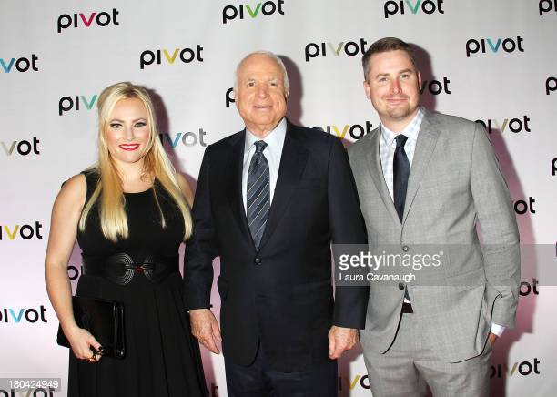 John McCain Meghan McCain and Jimmy McCain attend Raising McCain Series New York Premiere at Tribeca Cinemas on September 12 2013 in New York City