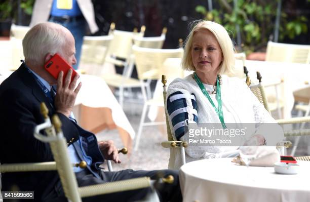 John McCain United Senator from Arizona and his wife Cindy attend the Ambrosetti International Economic Forum on September 1 2017 in Cernobbio Como...