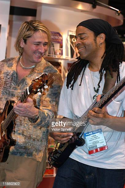 John McCarthy and Doug Wimbish during 2005 NAMM Music Conference at Anaheim Convention Center in Anaheim California United States