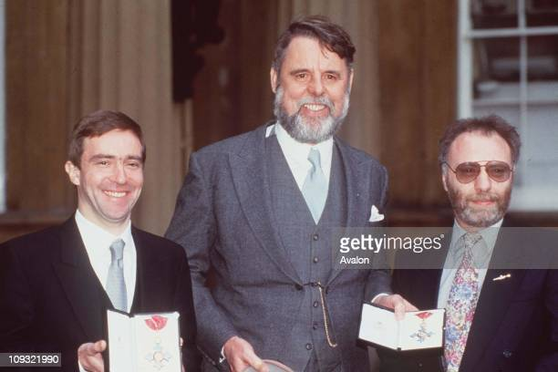 John Mccarthy, CBE; Terry Waite, CBE And Brian Keenan, CBE Former Hostages in BeirutOutside Buckingham Palace after each being invested with the CBE.
